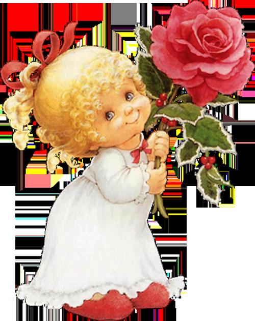 Девочка с цветами открытка 51