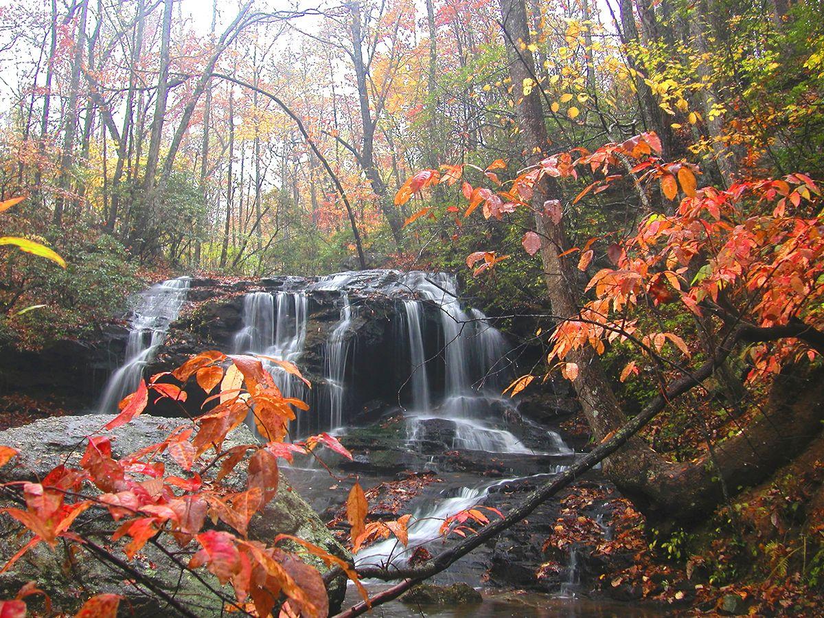 Beautiful falls in big canoe ga georgia the beautiful for The big canoe
