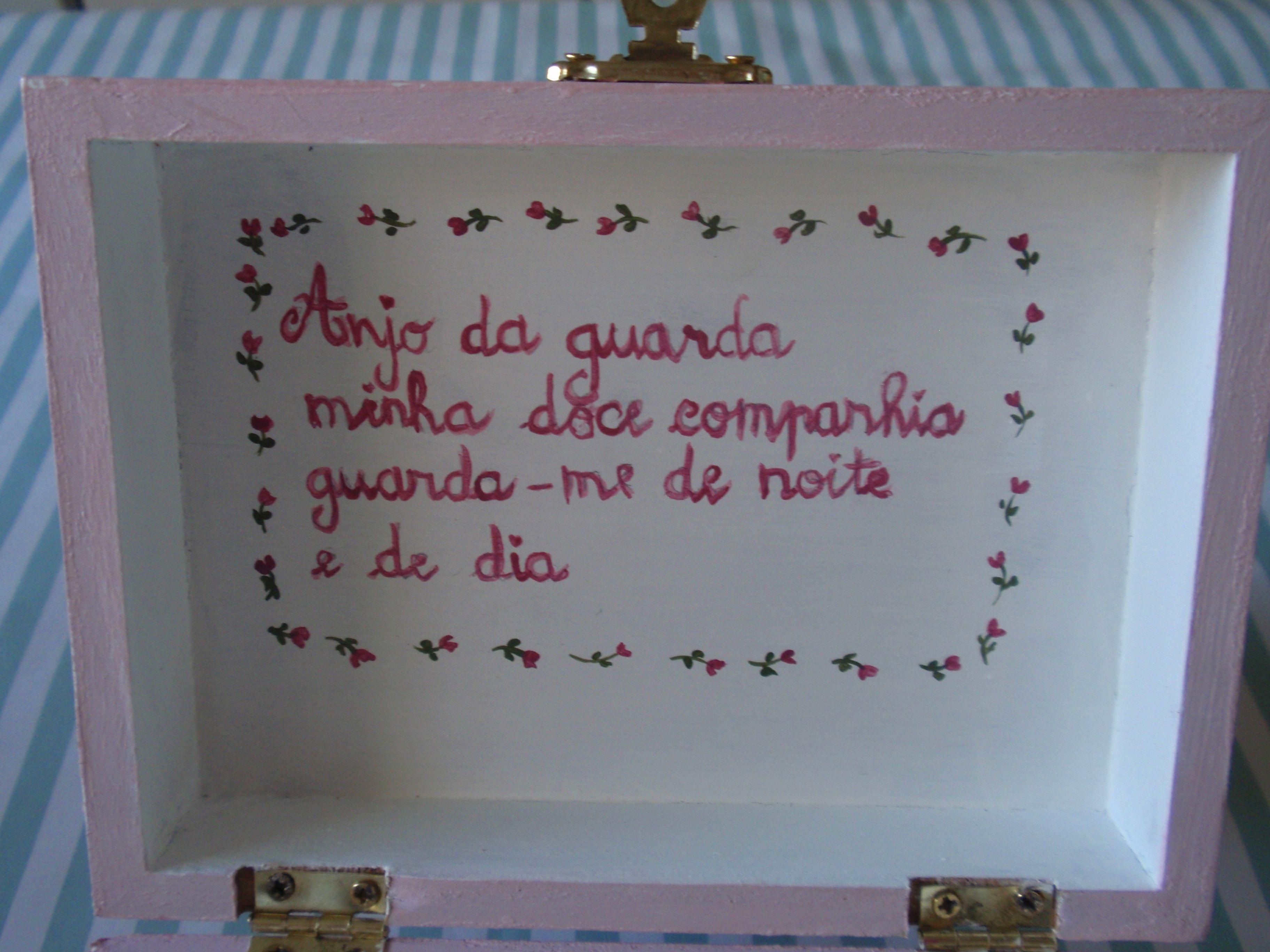 caixa de madeira pintada à mão Célia Fonseca meus trabalhos  #3C668F 3648x2736