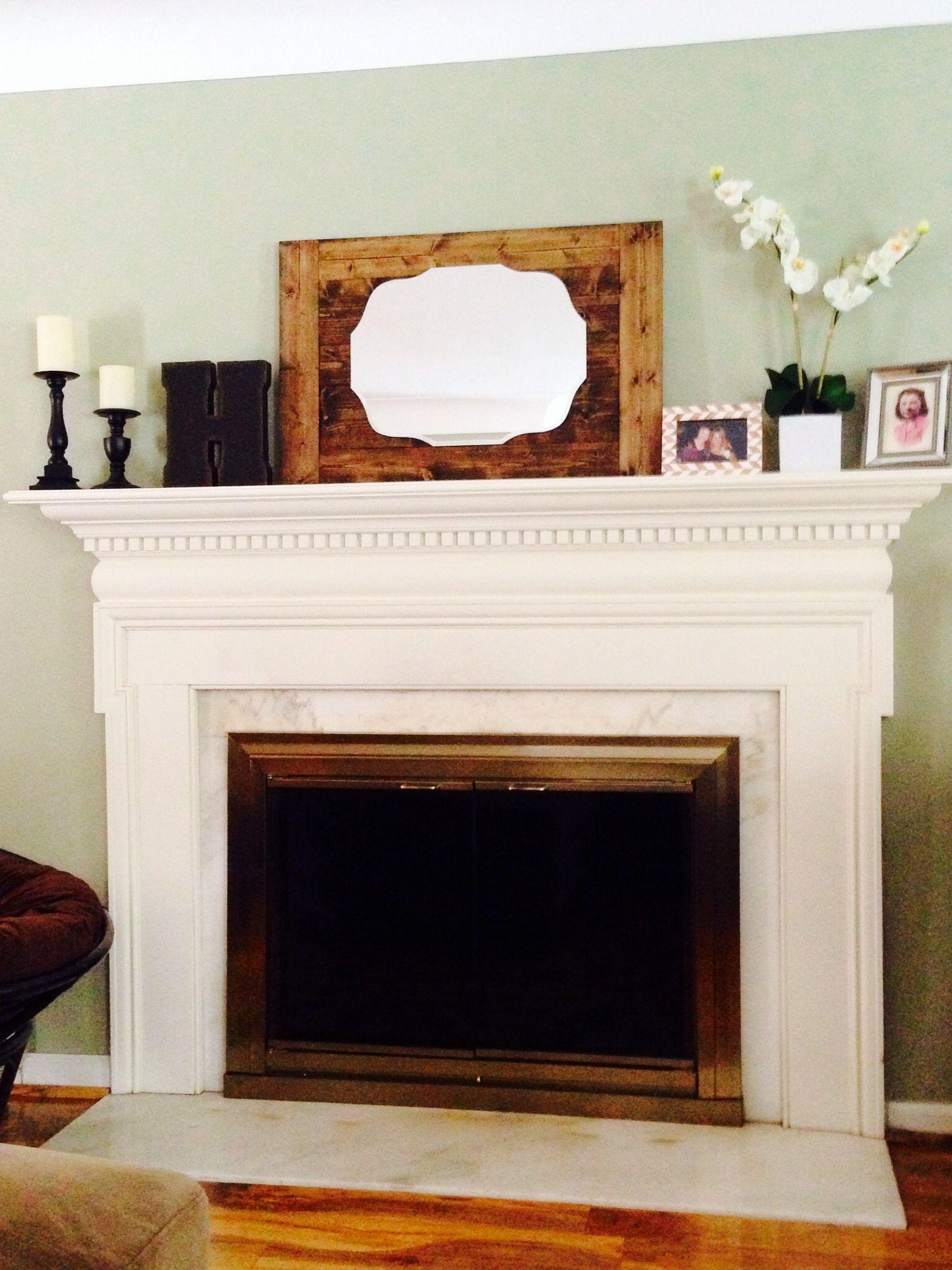 Fireplace Mantle Decor Mirror Dream Home Pinterest