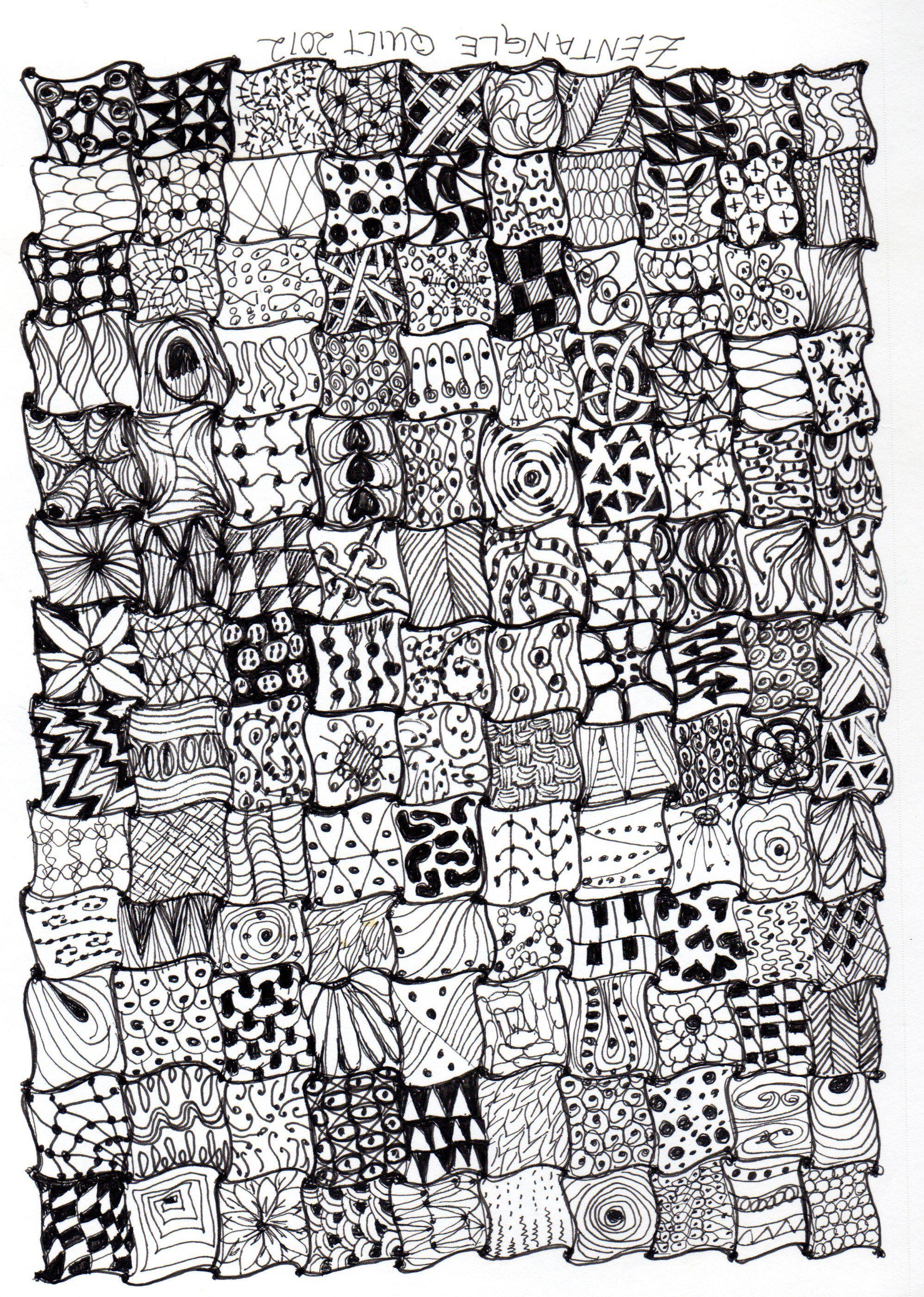 Zentangle Quilt Zentangle Art Pinterest