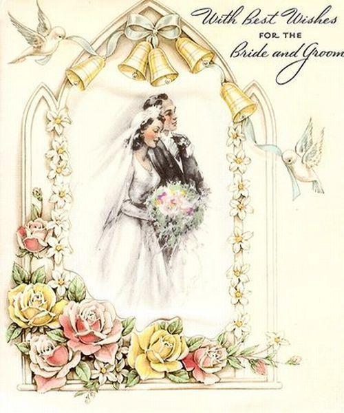 Винтажные открытки для свадьбы 495