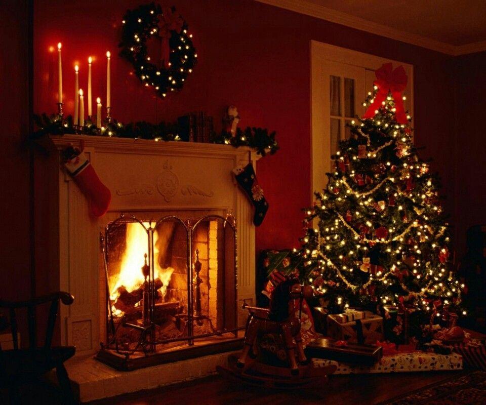 Fireplace Christmas Winter Pinterest