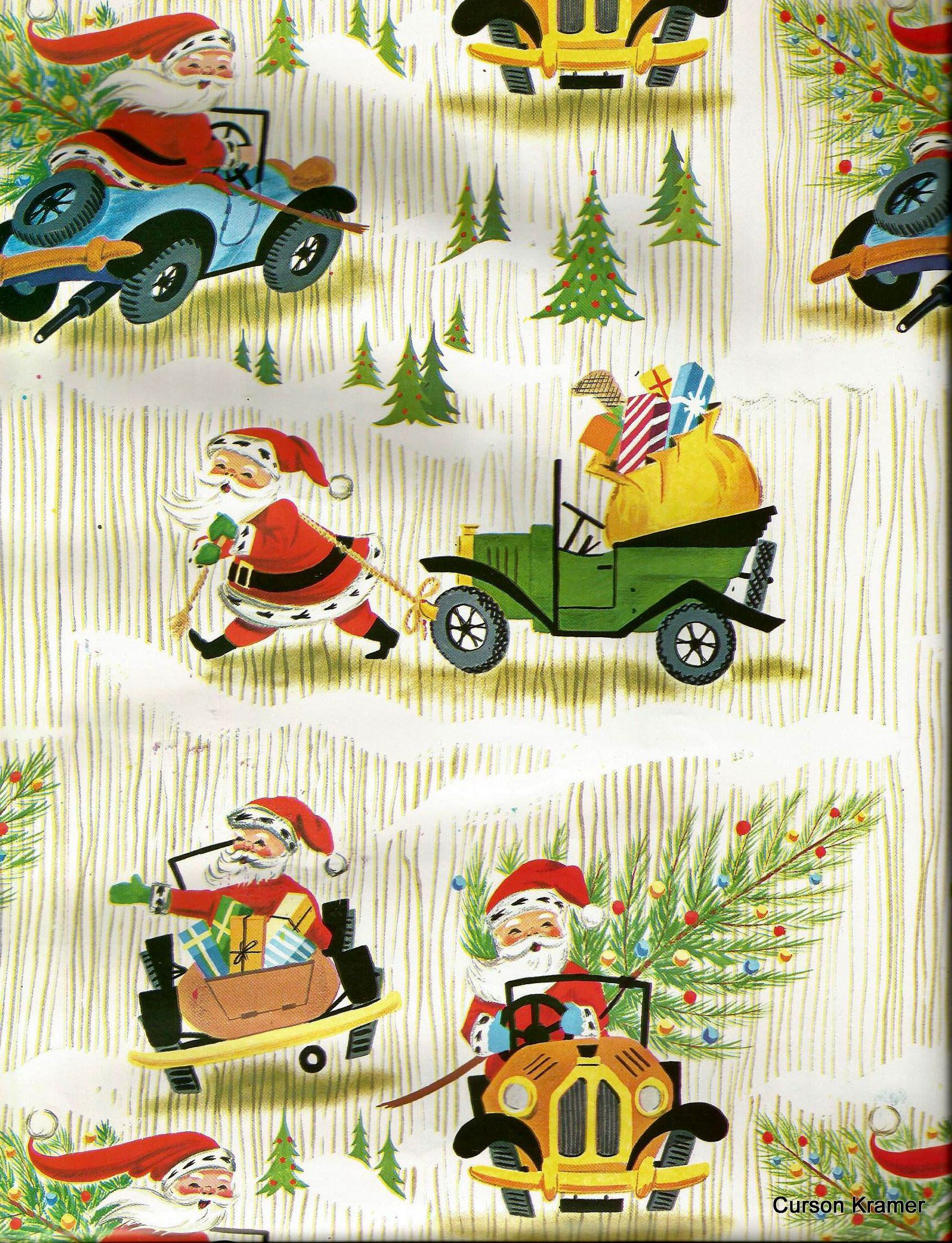 Vintage gift wr... Vintage Christmas Wrapping Paper