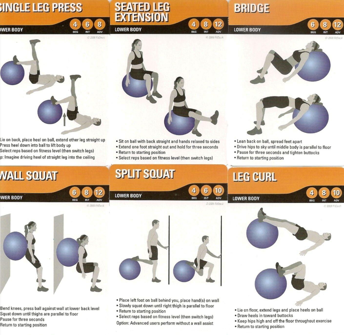 Lower body Stability ball exercises | Exercise | Pinterest