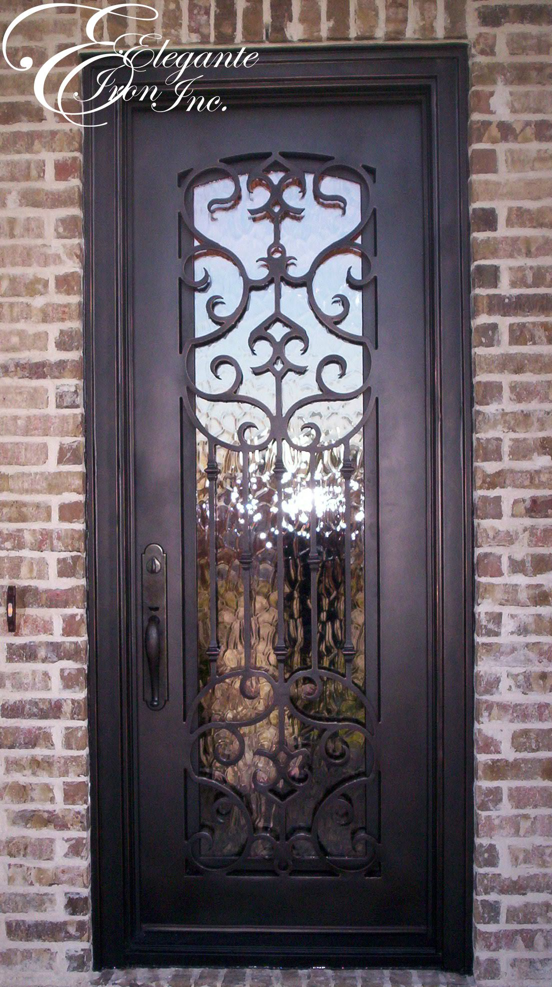1972 #765C4E Custom Wrought Iron Front Door. Single Doors Pinterest image Iron Entrance Doors 38931104