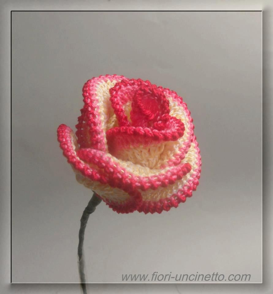 Large Crochet Rose Pattern Free : crochet rose Crochet It Pinterest