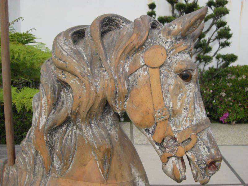 Wooden horse vintage wooden horse pinterest for Vintage horseshoes for sale