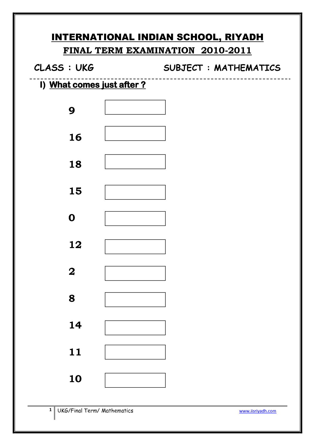 Worksheets Ukg Maths For More Similar Worksheets Visit Of 5 See – Ukg Maths Worksheets