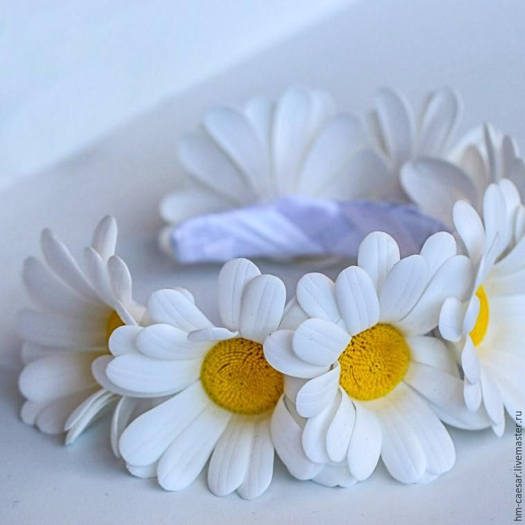 Фоамиран цветы мастер класс ромашка из