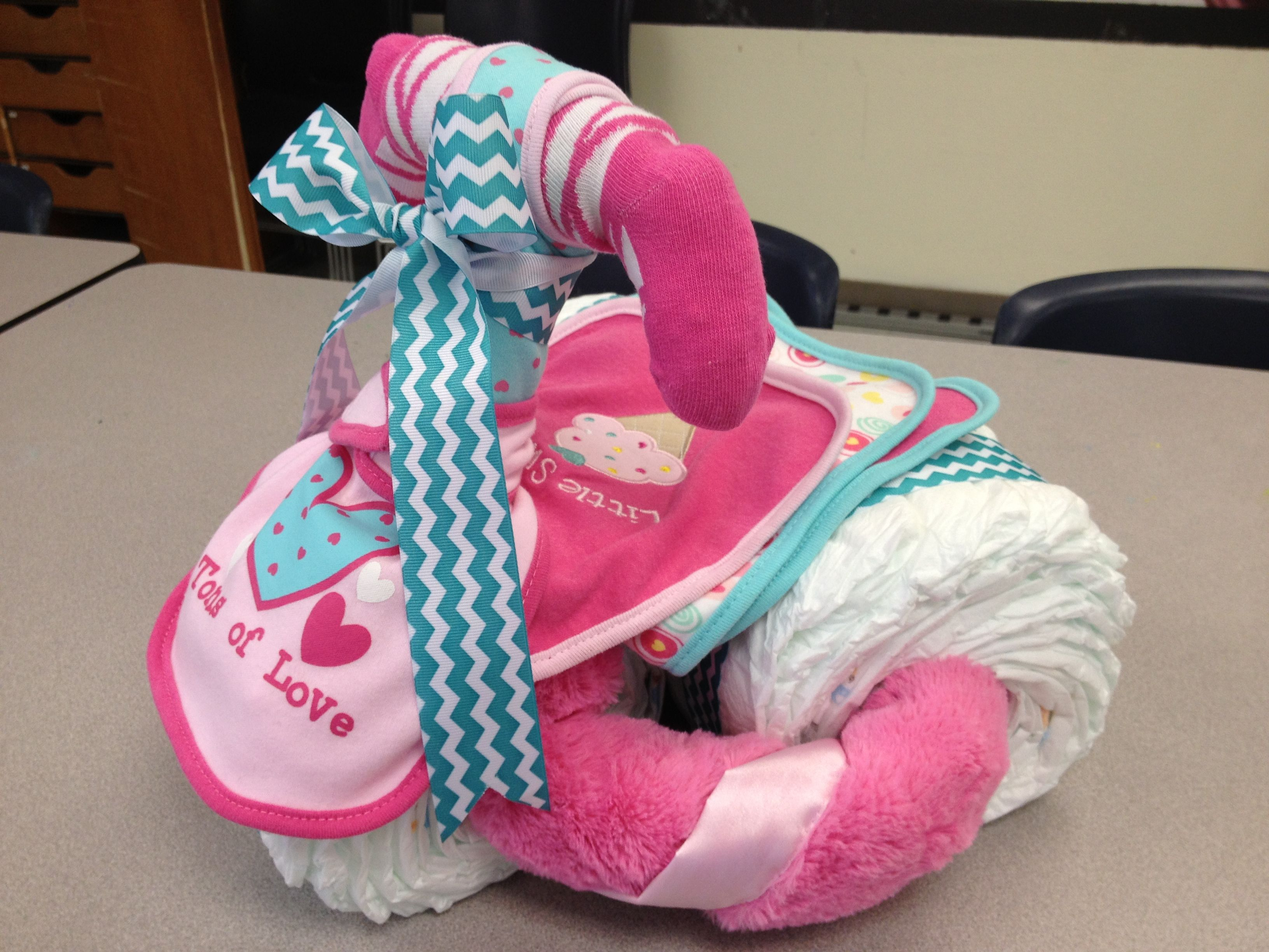 Tricycle diaper cake grand baby stuff pinterest