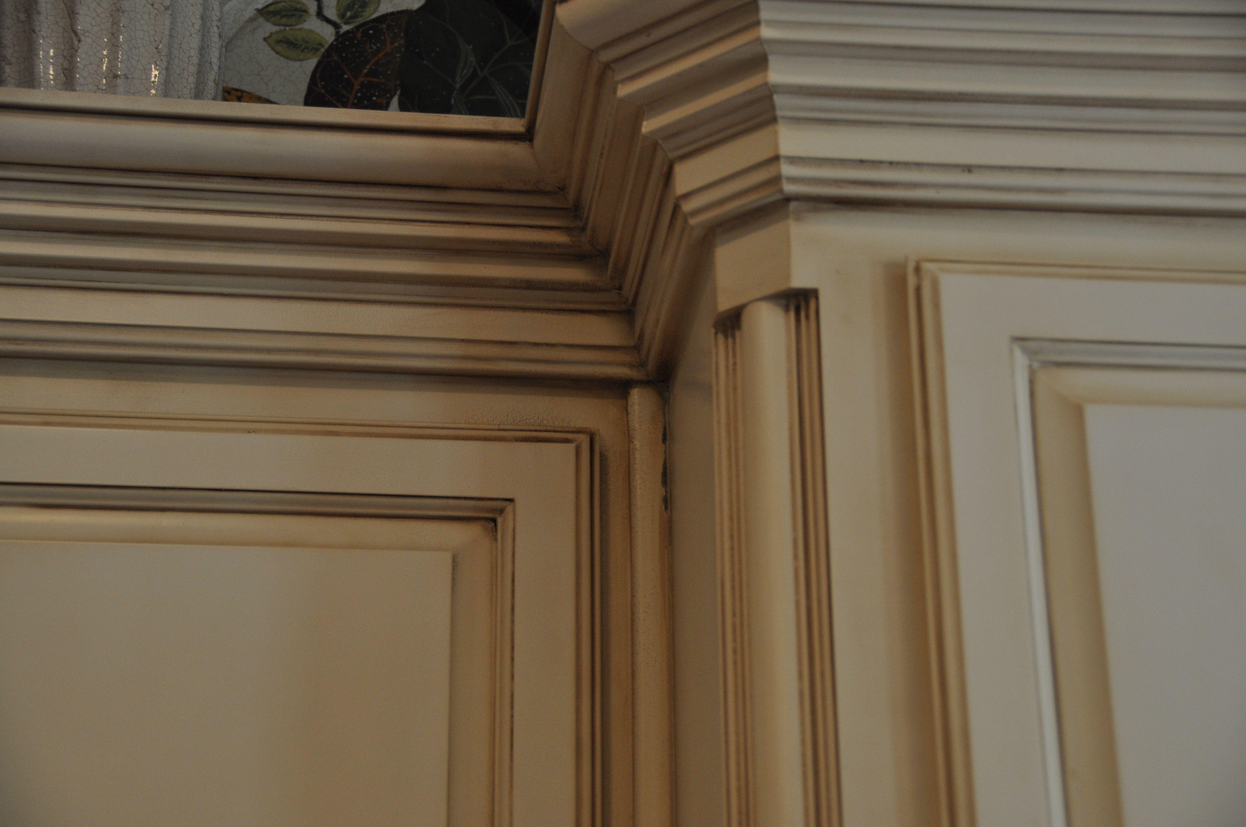 Cream glazed cabinets kitchen ideas pinterest - How to glaze kitchen cabinets cream ...