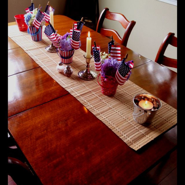 4th Of July Table Decorations The Holidays Pinterest