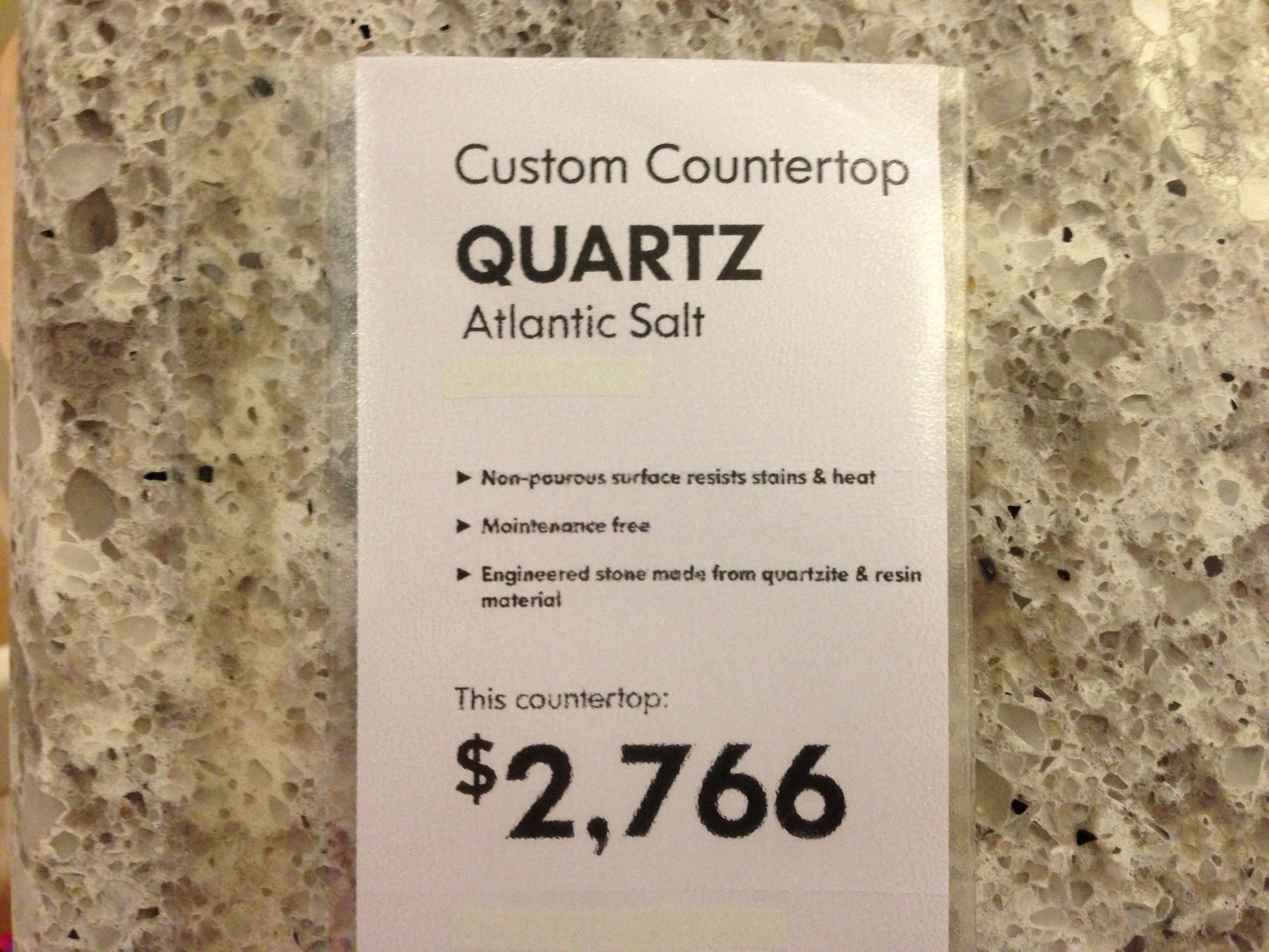 Atlantic salt quartz countertop ikea kitchen pinterest Quartz countertops cost