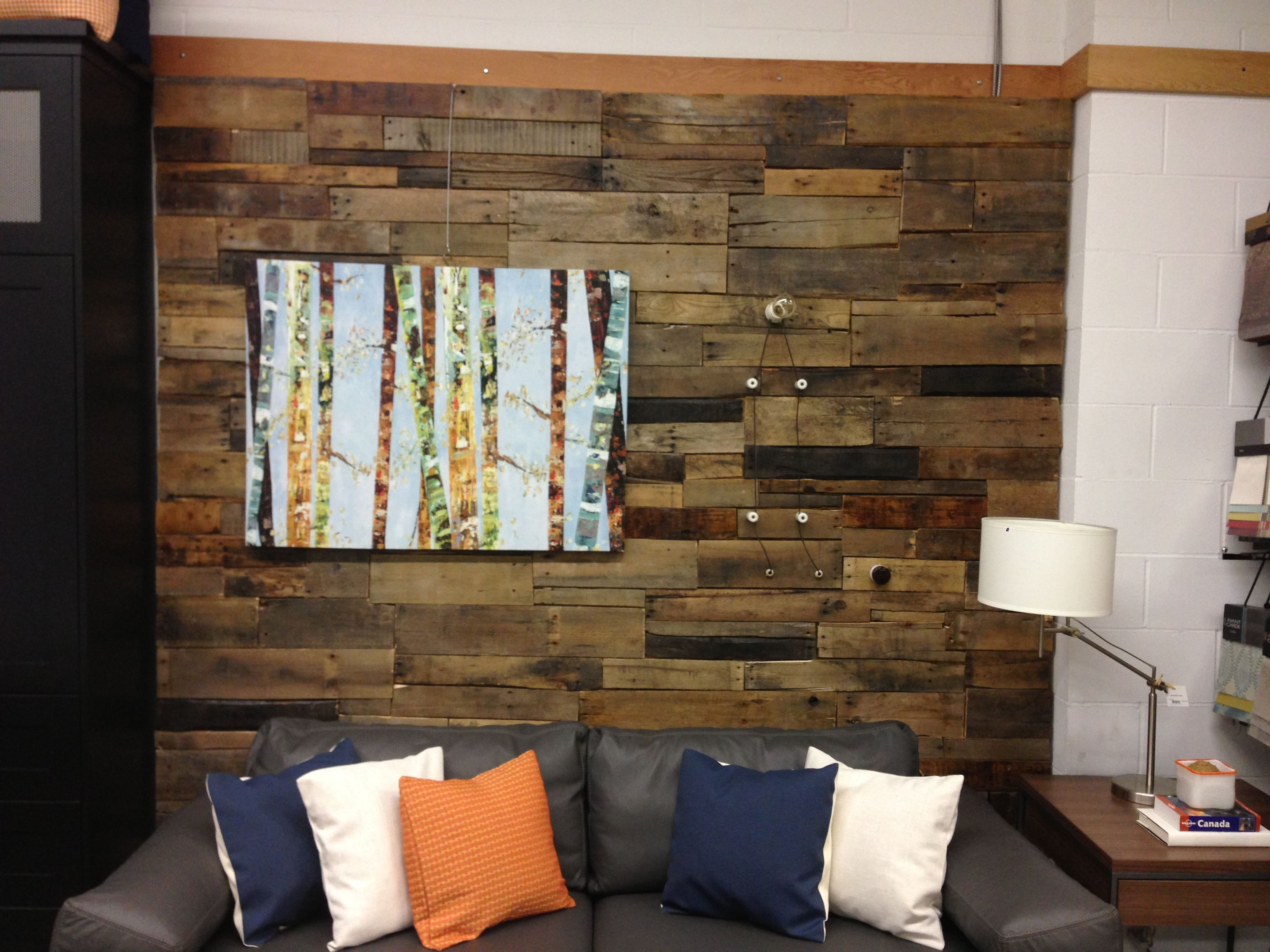 Used pallet wall ideas pinterest for Using pallets for walls