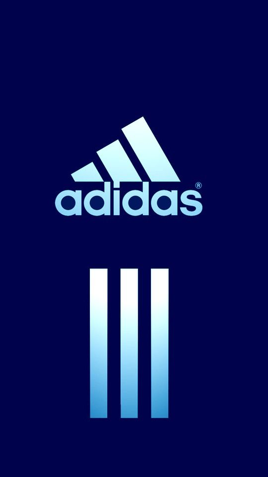 Adidas logo blue wallpaper