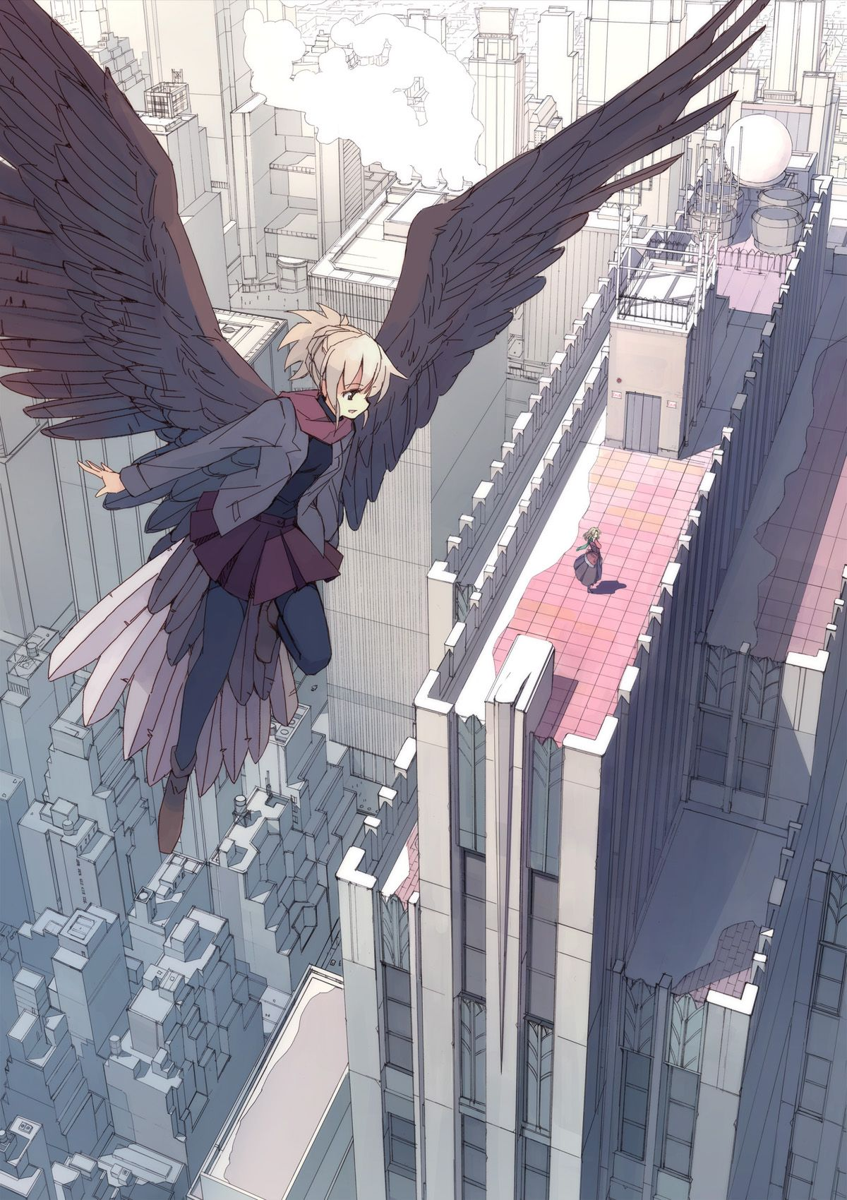 anime girl with wings anime pinterest