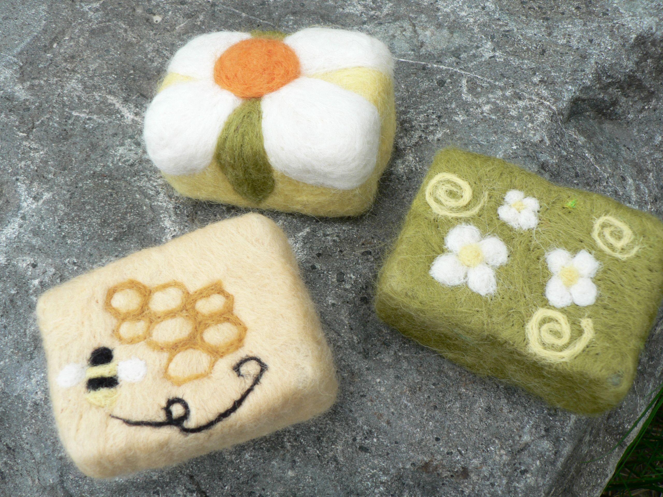 Needle Felted Soaps | felt crafts | Pinterest