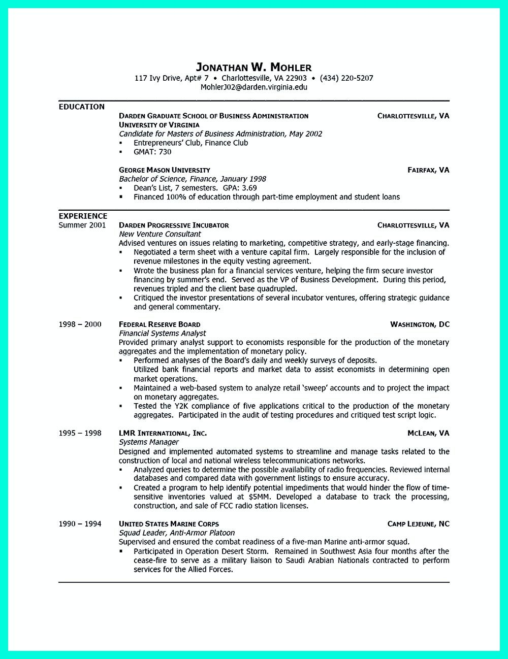 Resume For Student Intern