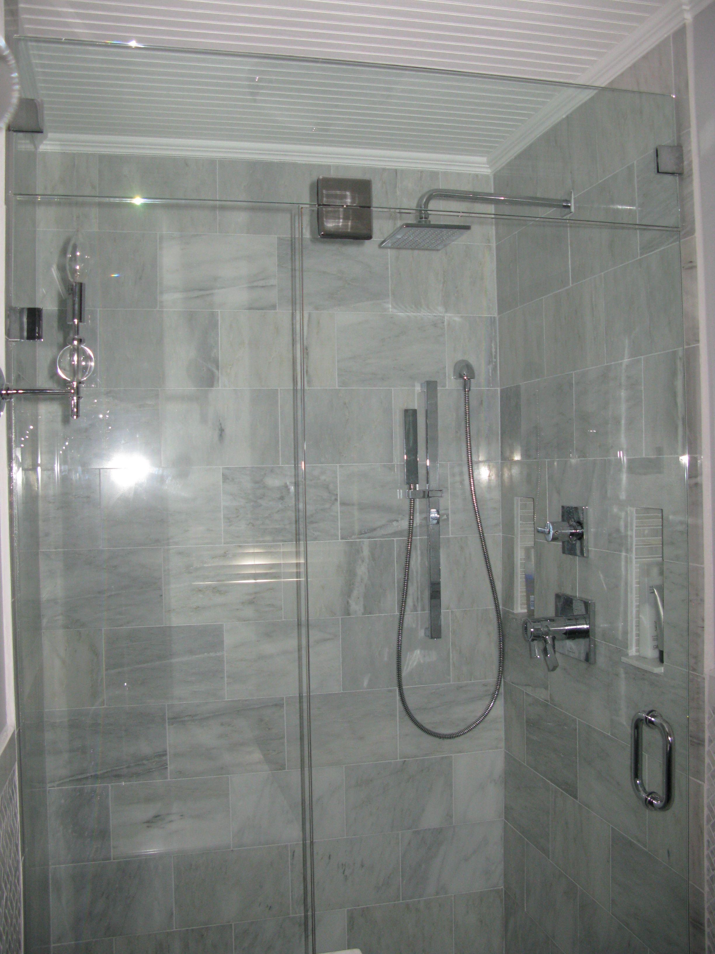 Bead Board Ceiling Rain Shower Head Bath Pinterest