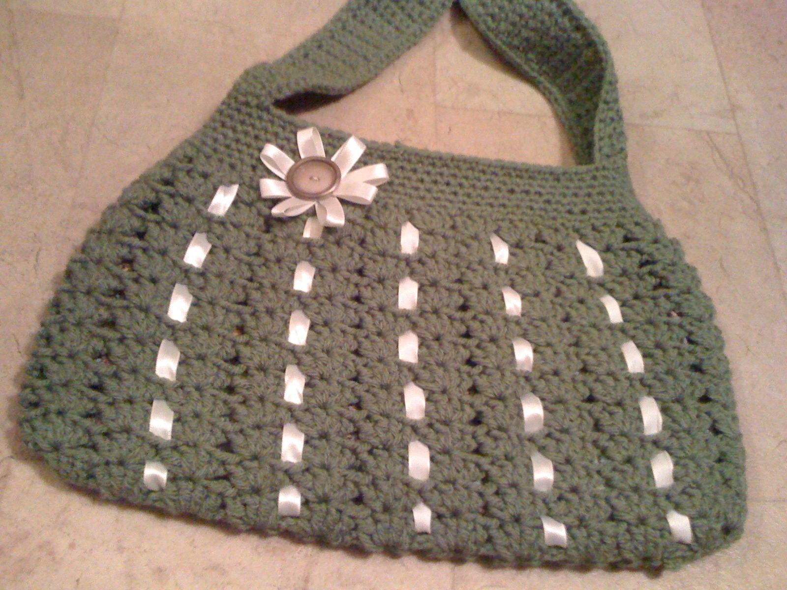 Crocheted Hobo Bag CROCHET-BAGS/PURSES Pinterest