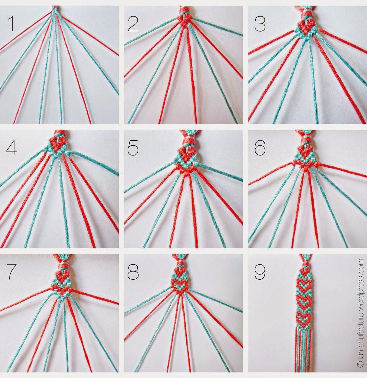 pattern friendship bracelet macrame knots