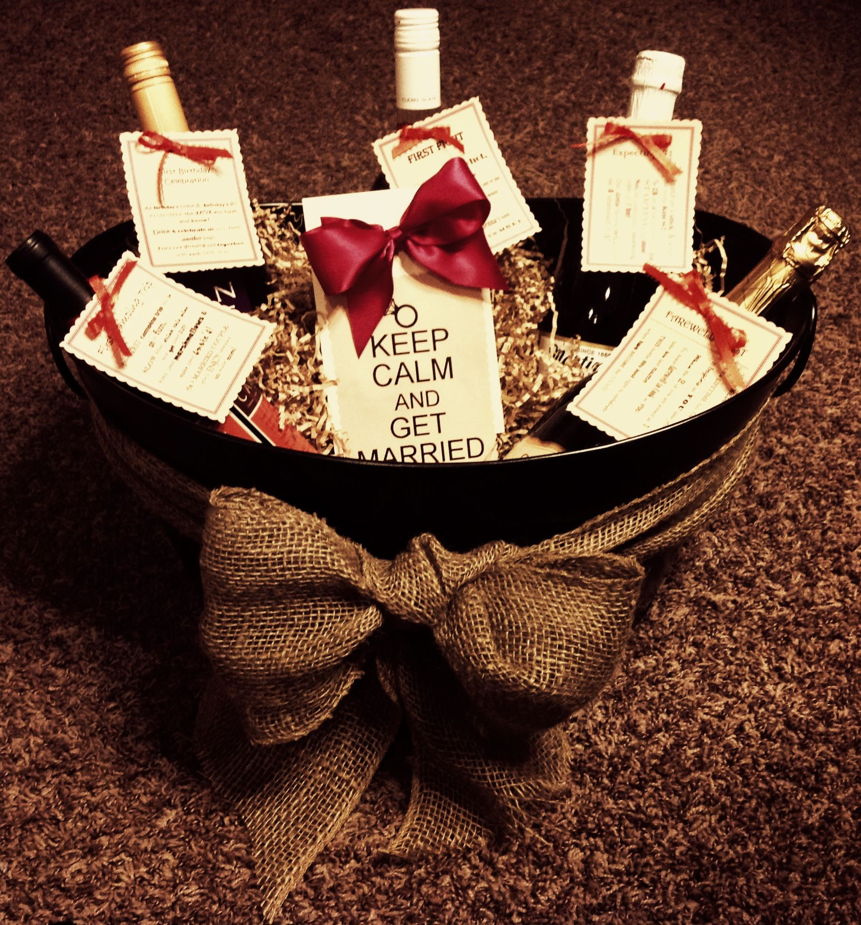 Pinterest Wedding Shower Gift Basket Ideas : Bridal Shower Gift Basket The Crafty Crafter Pinterest