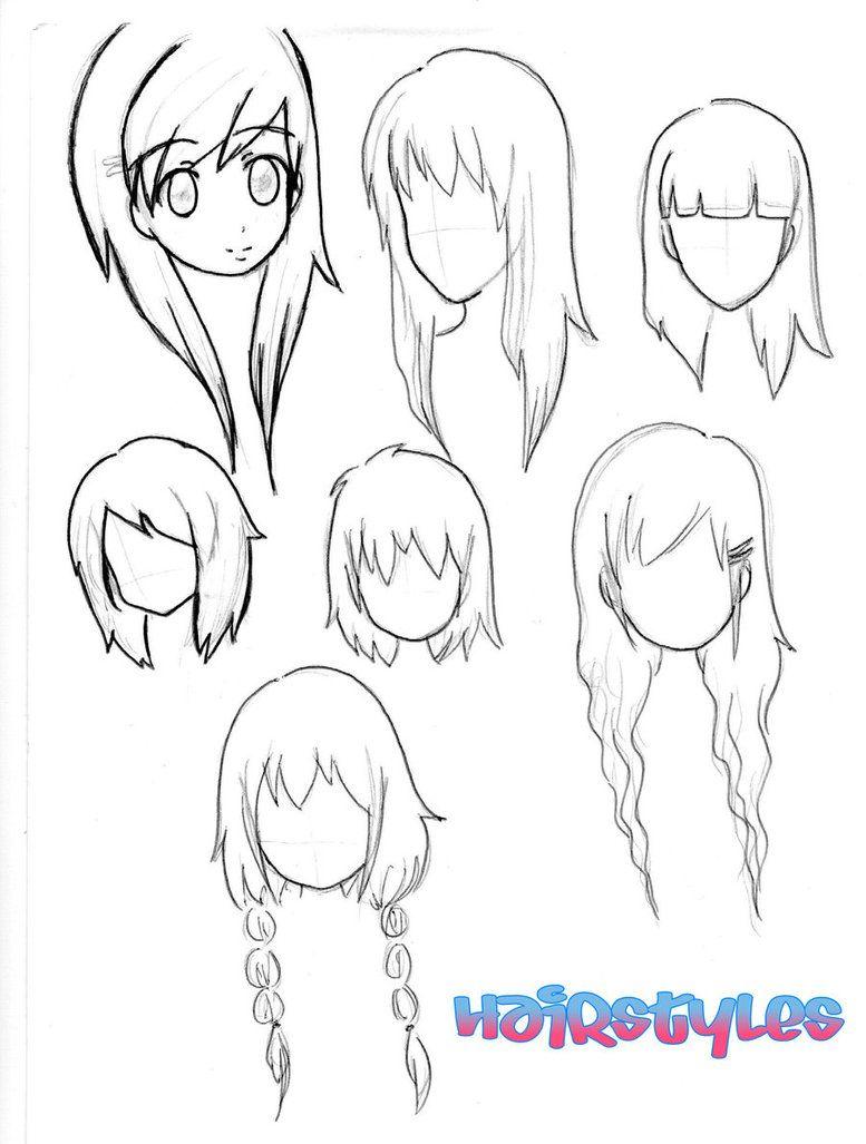 Как нарисовать волосы чиби