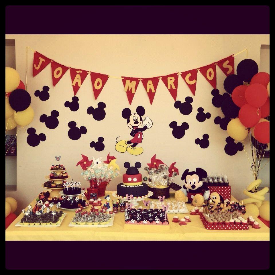 Decoração festa mickey mouse | Pasta americana | Pinterest