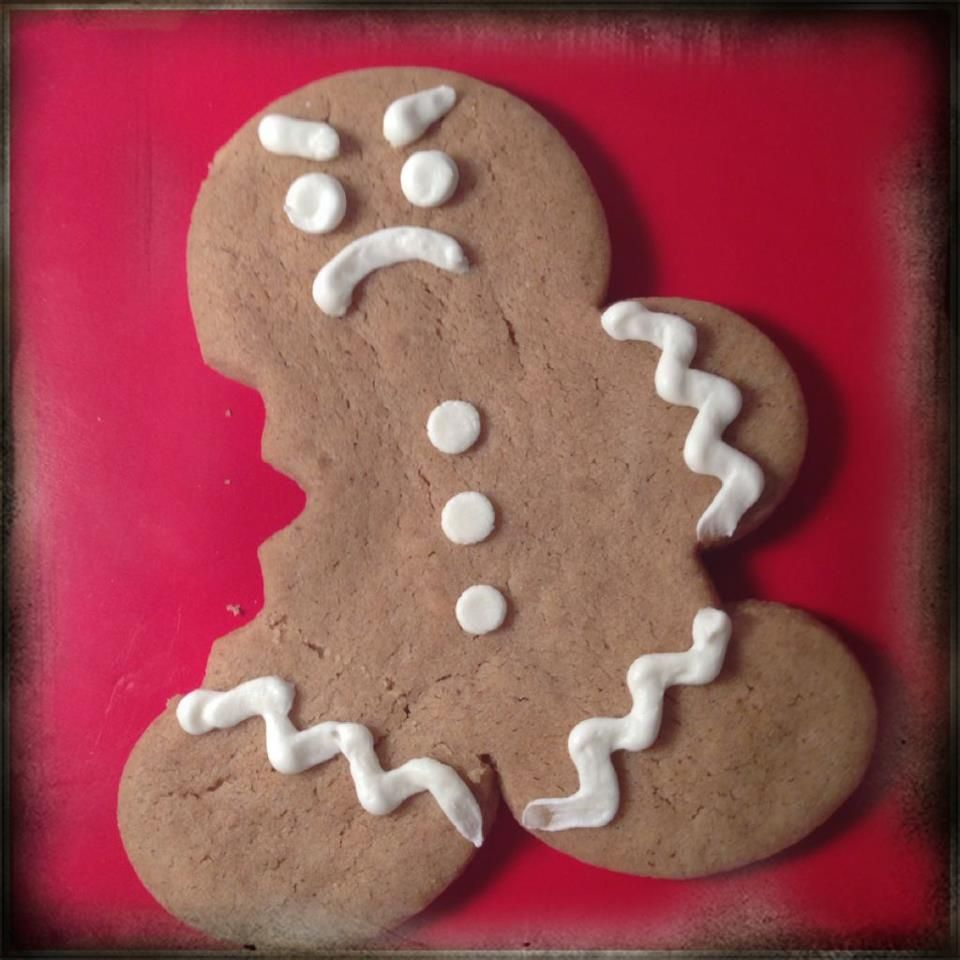 Angry Gingerbread Man