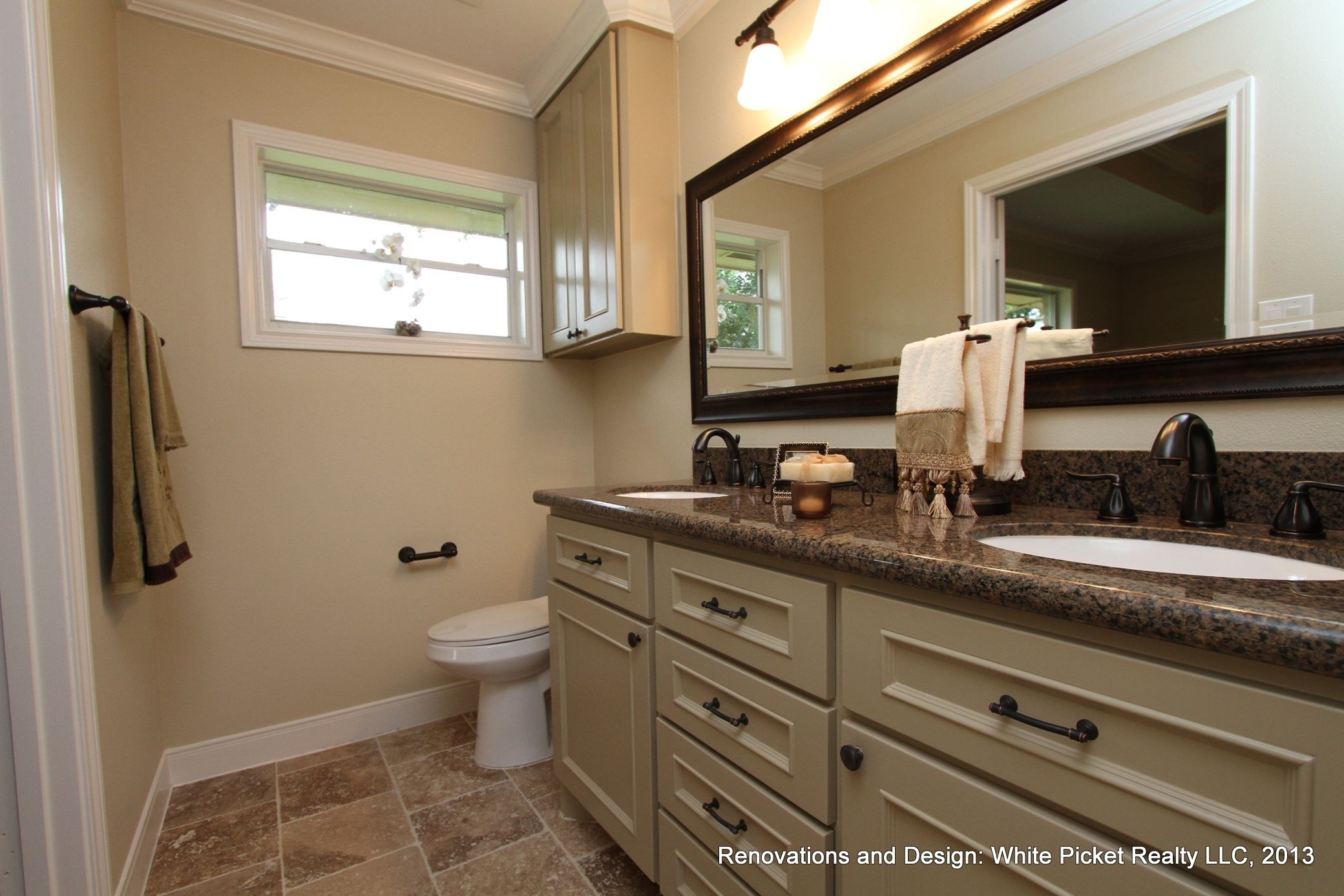 His and Hers bathroom sinks Completed Bathroom Renovations Pinter ...