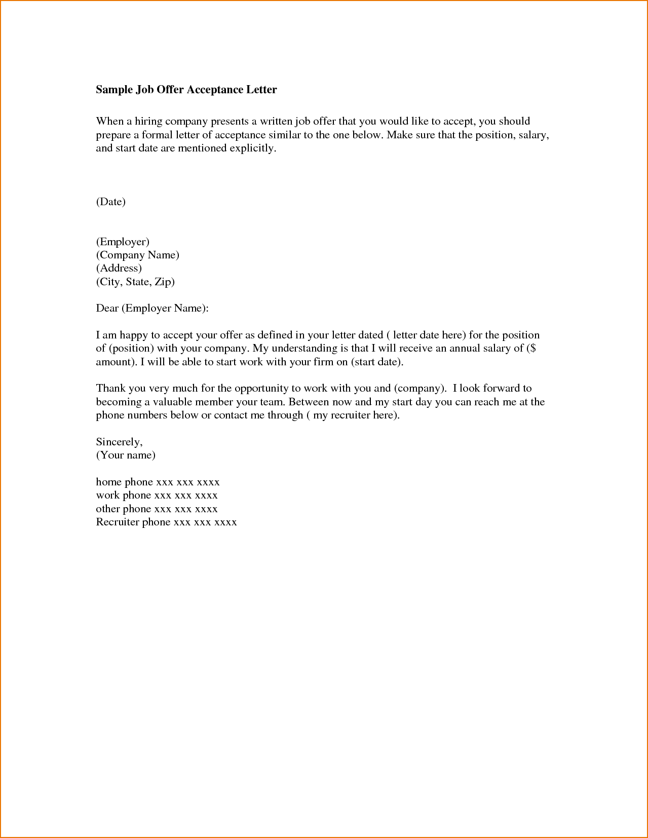 job cover letter email sample