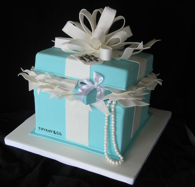 Tiffany & Co. gift box Occasional CAKE ideas Pinterest