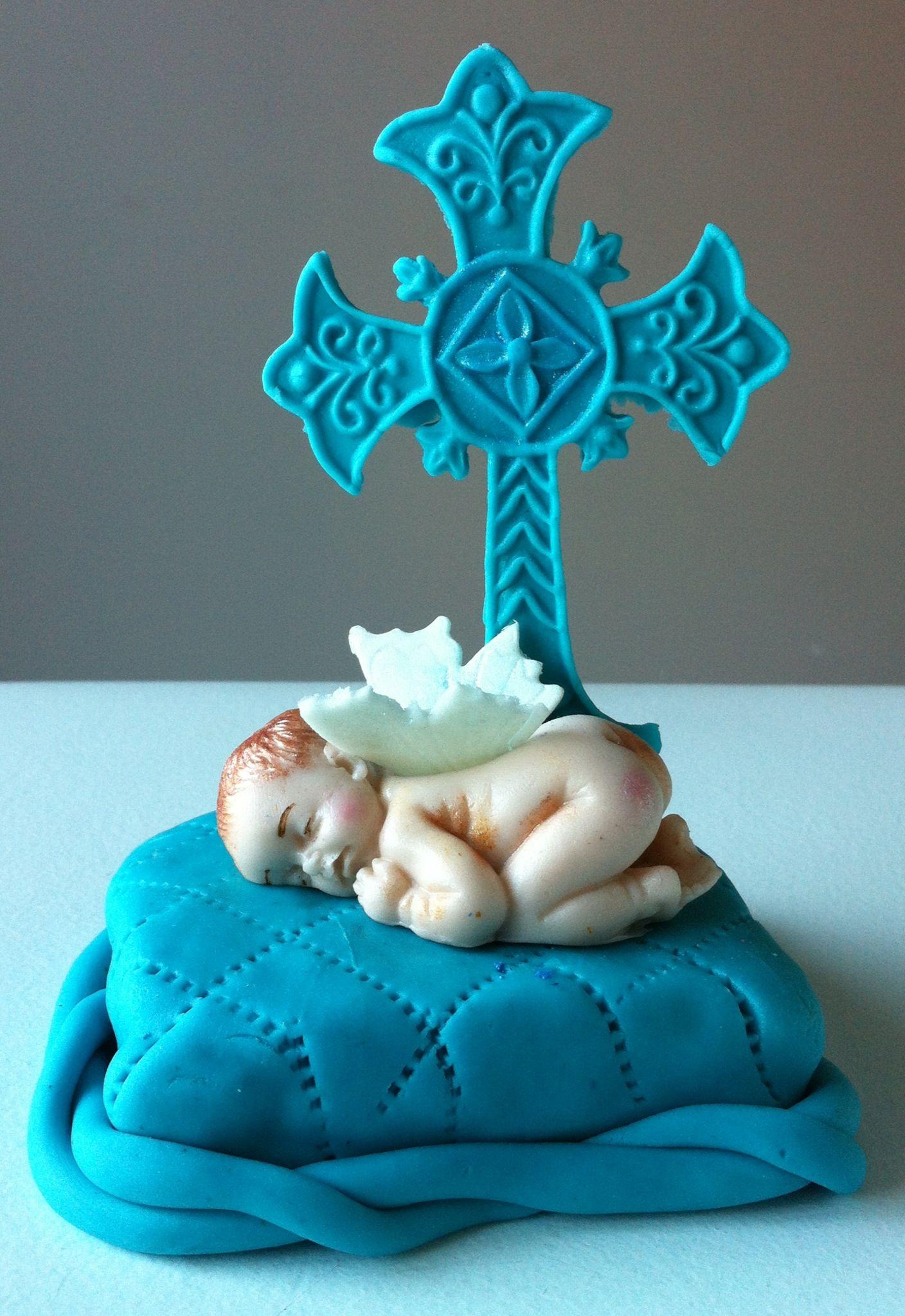 Cake Toppers Baby Christening : Baby boy cake topper(baptism) Cakes Pinterest