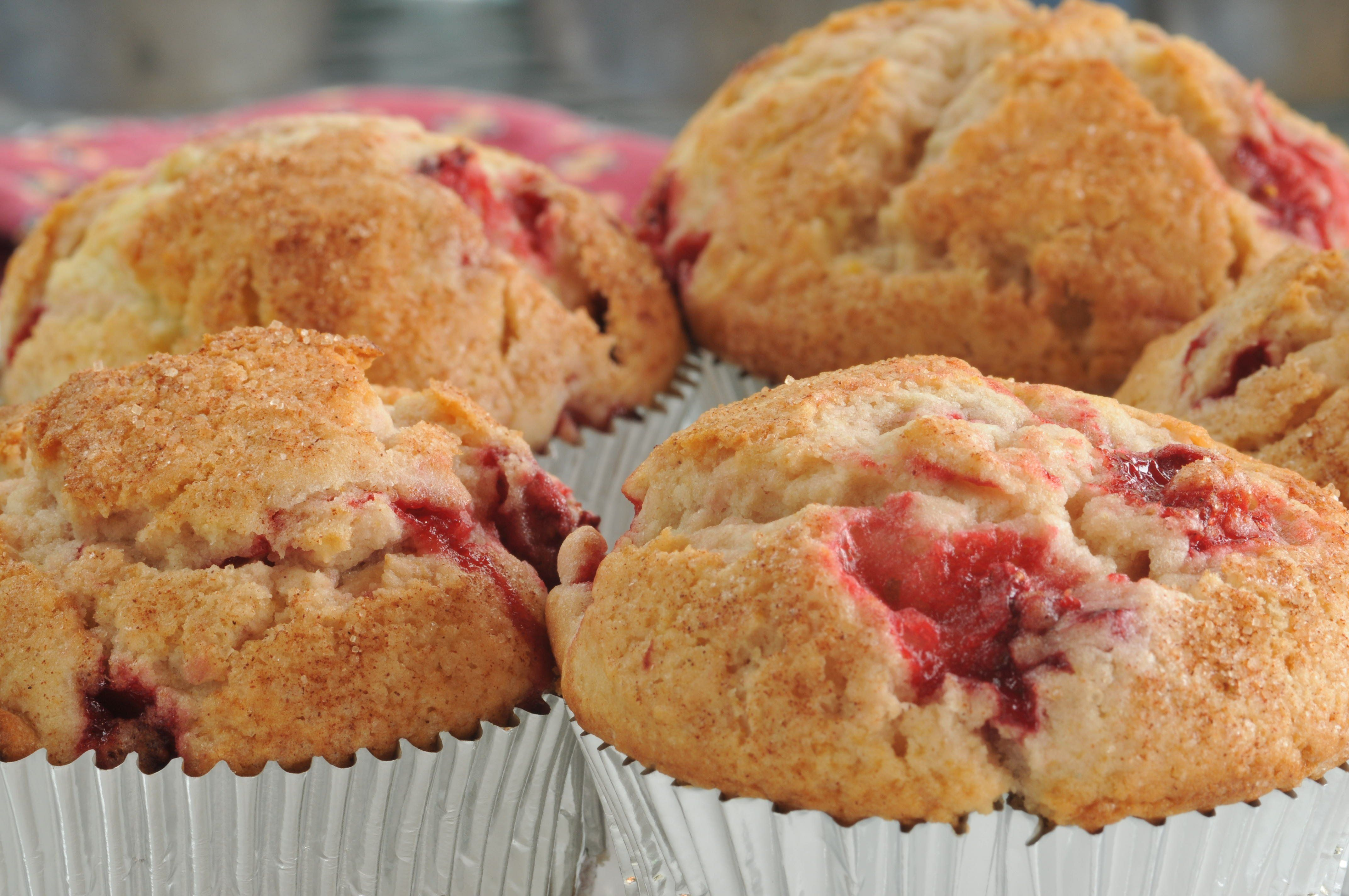 strawberry muffins | Good Eats | Pinterest
