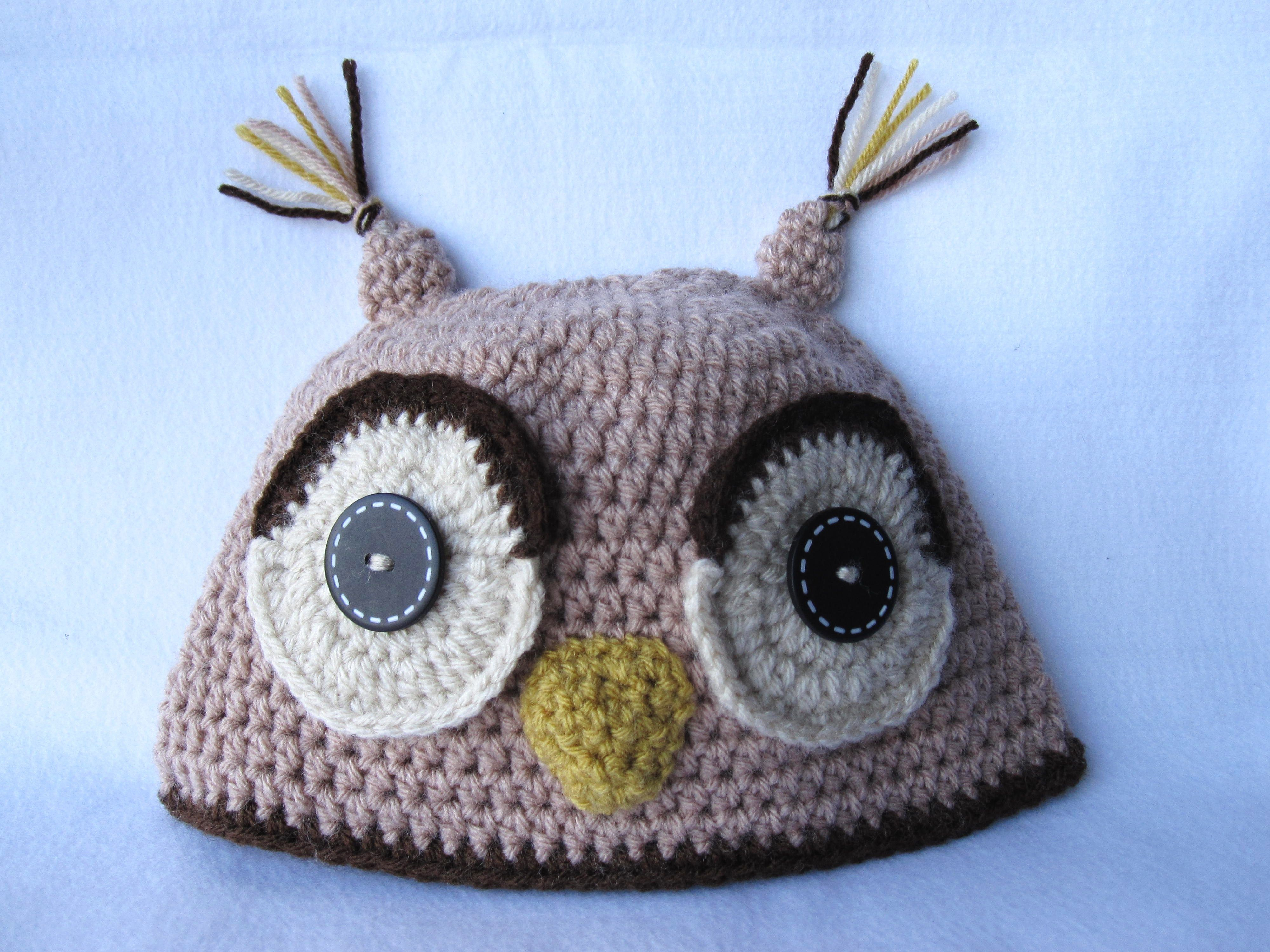 Owl crochet hat Crochet wonders Pinterest
