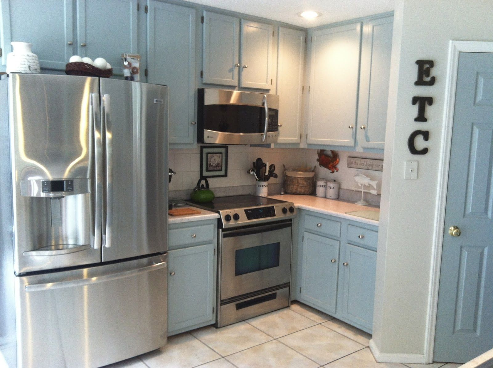 Grey kitchen cabinets valspar yachtsman for the home for Grey cabinet paint