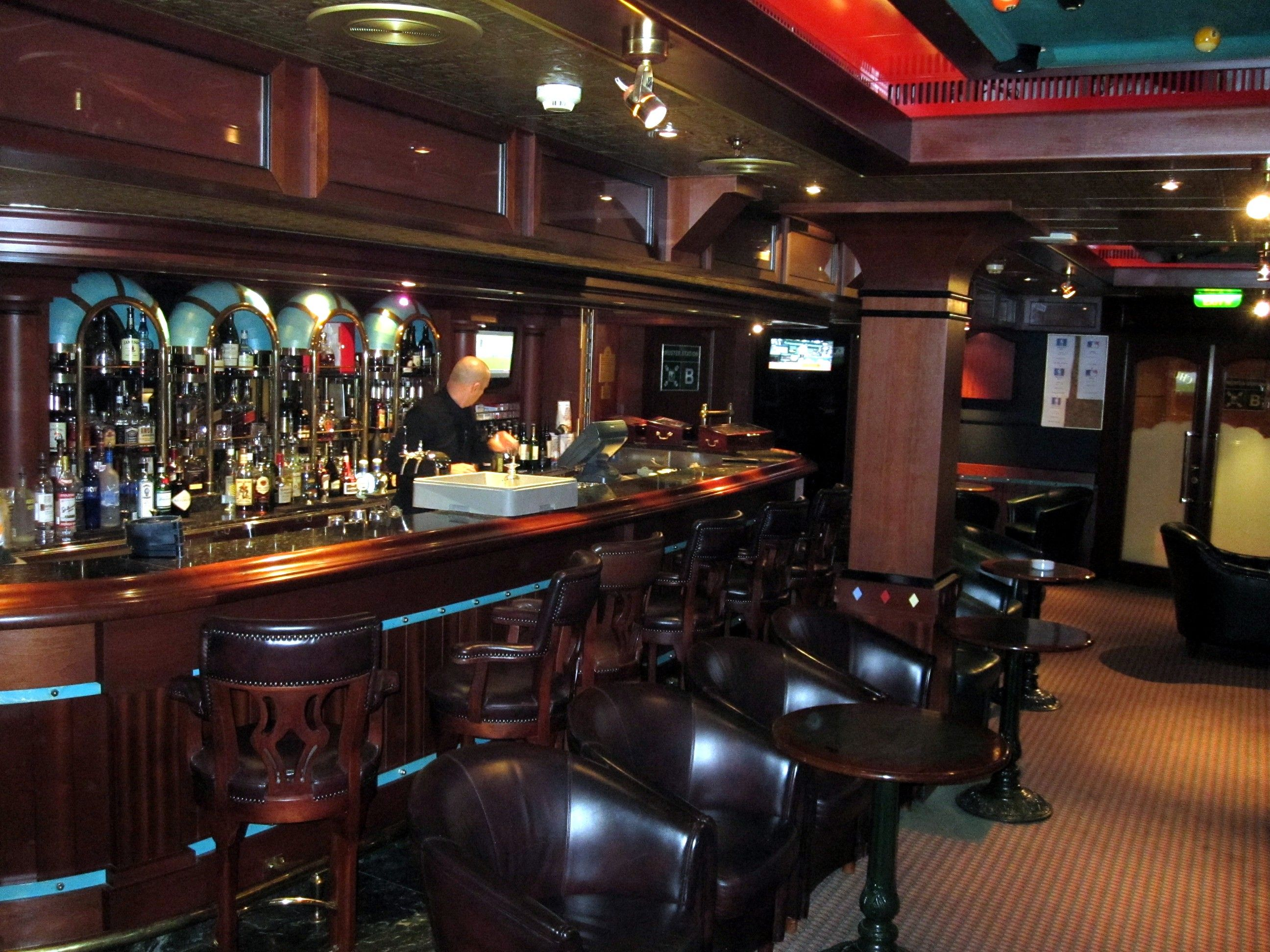 Churchill Cigar Bar on Caribbean Princess