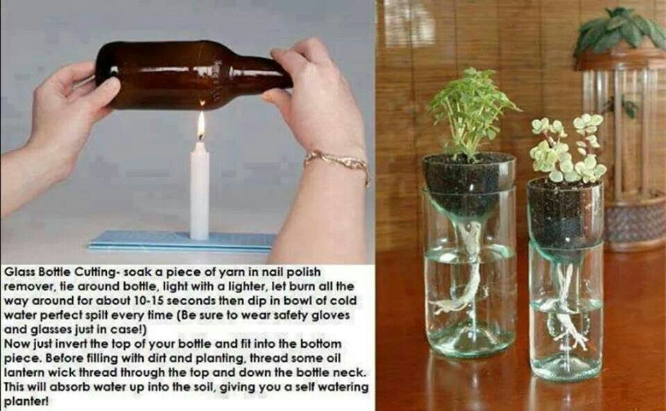 glass bottle cutting crafty projects pinterest