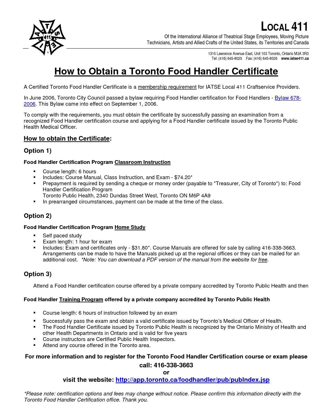Food Handlers Manual Ontario Foodstutorial