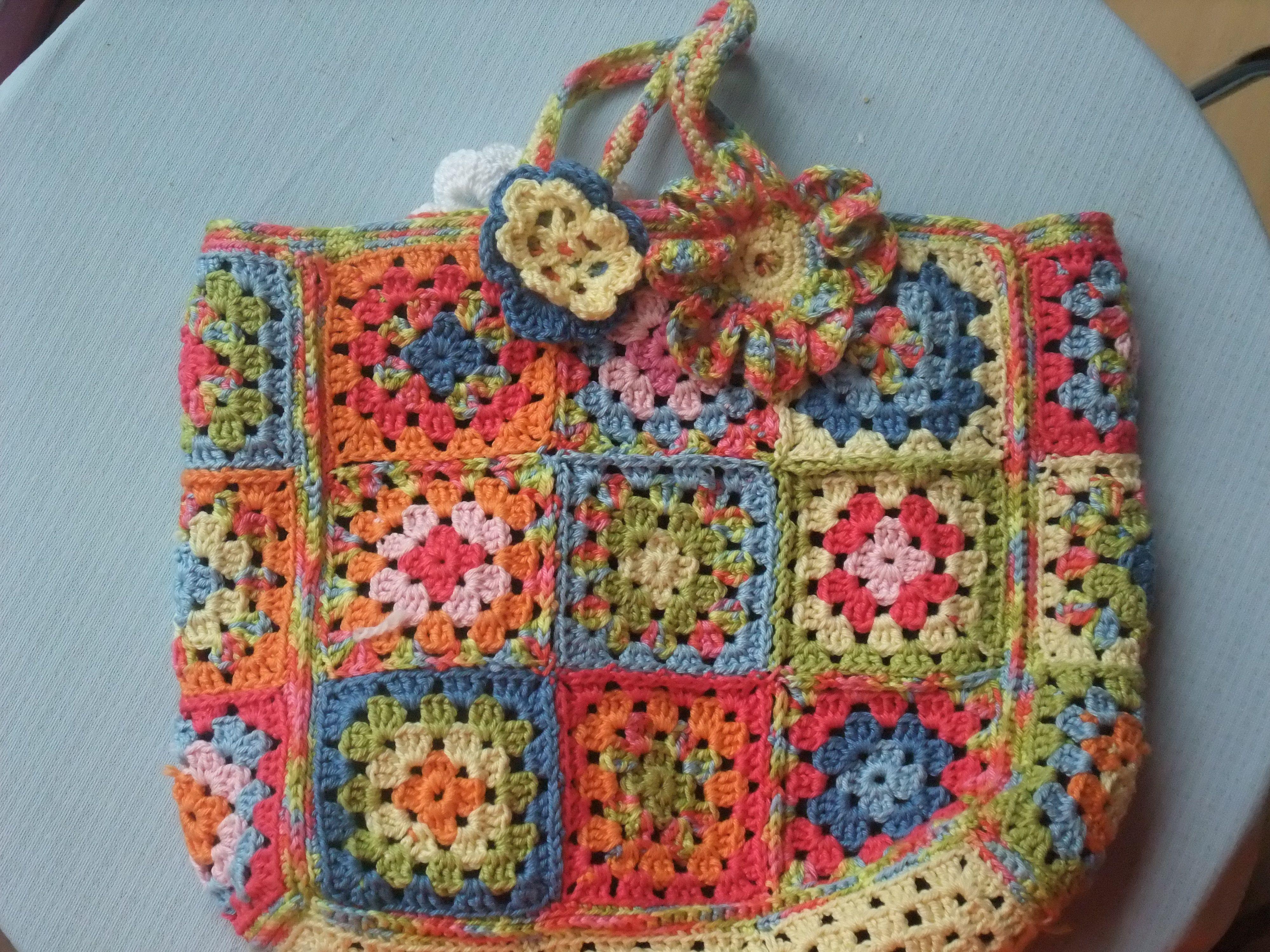 Granny Square Bag : Granny square bag Tassen Bags DIY Pinterest