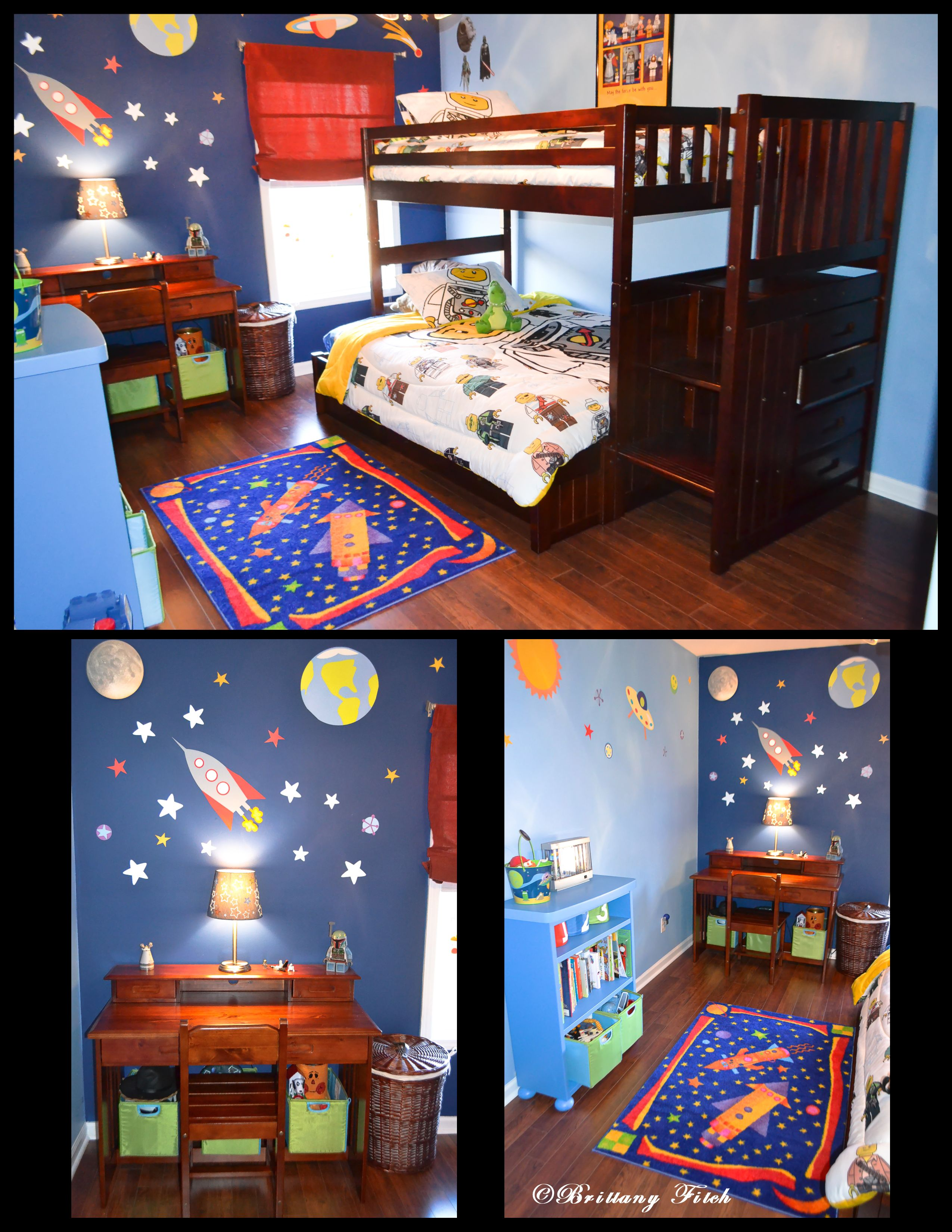Kid 39 s outer space theme bedroom boys room pinterest - Outer space bedroom decor ...