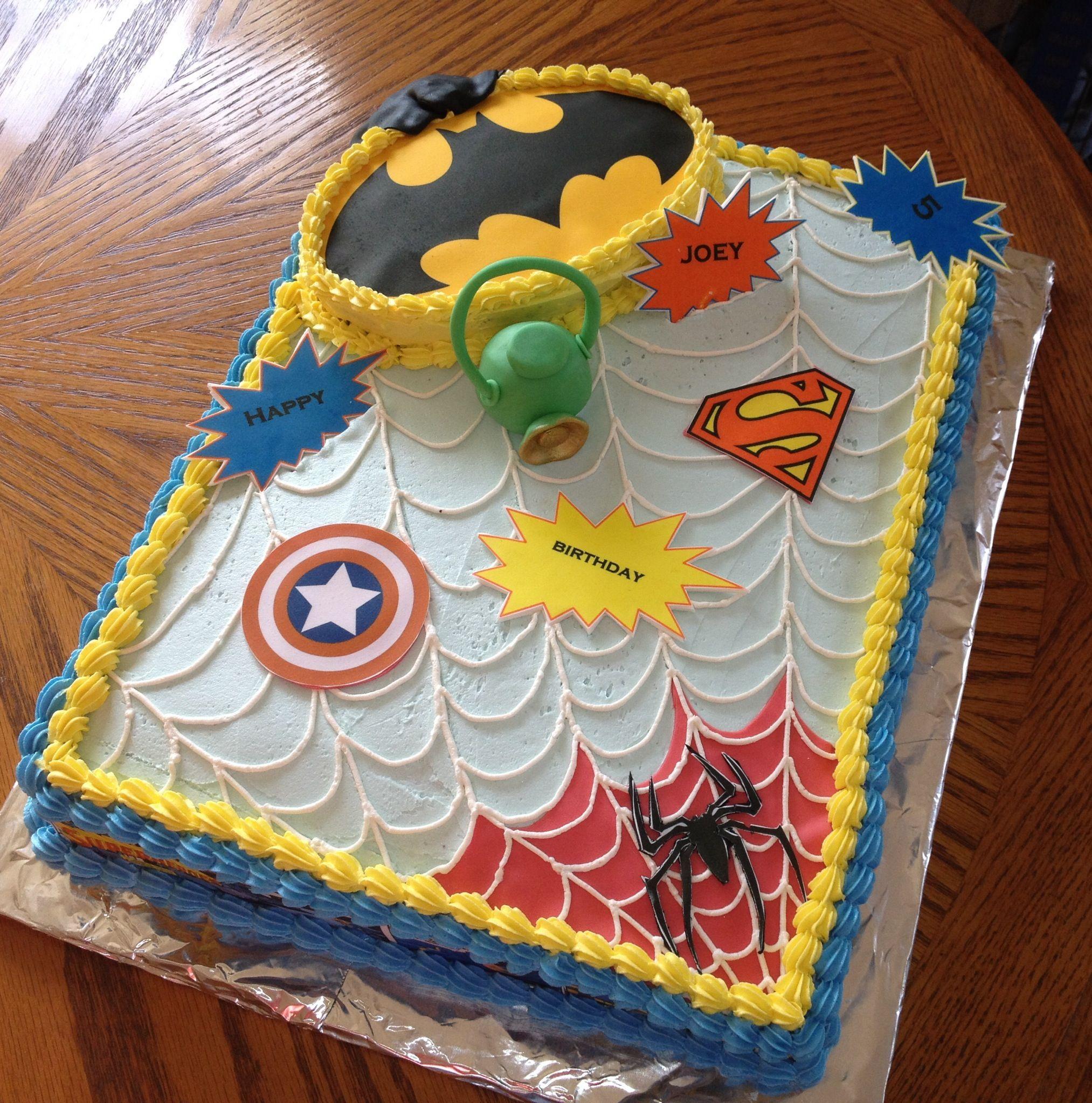 Superhero Cake | Cake ideas | Pinterest