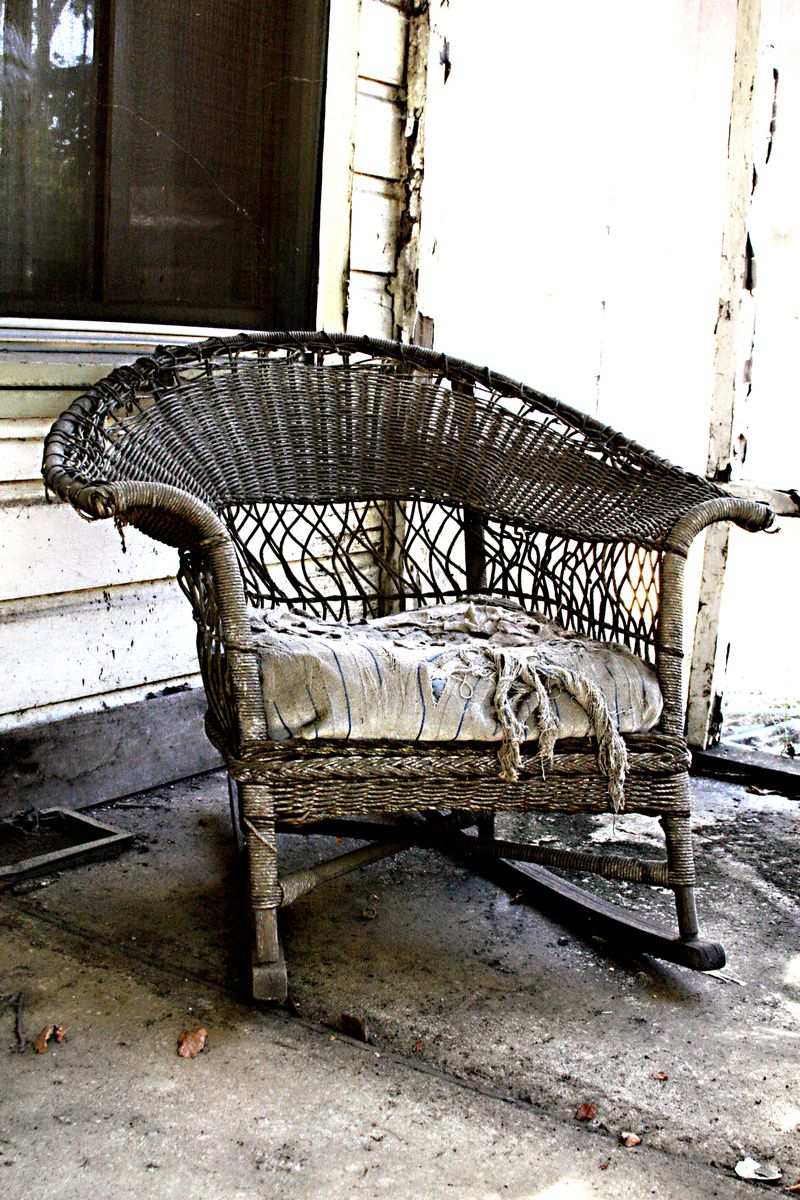 Antique Wicker Chair Abandon and Ruin