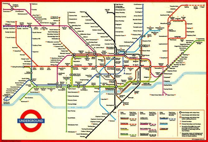 Sublime design: the London Underground map | London | Pinterest ...