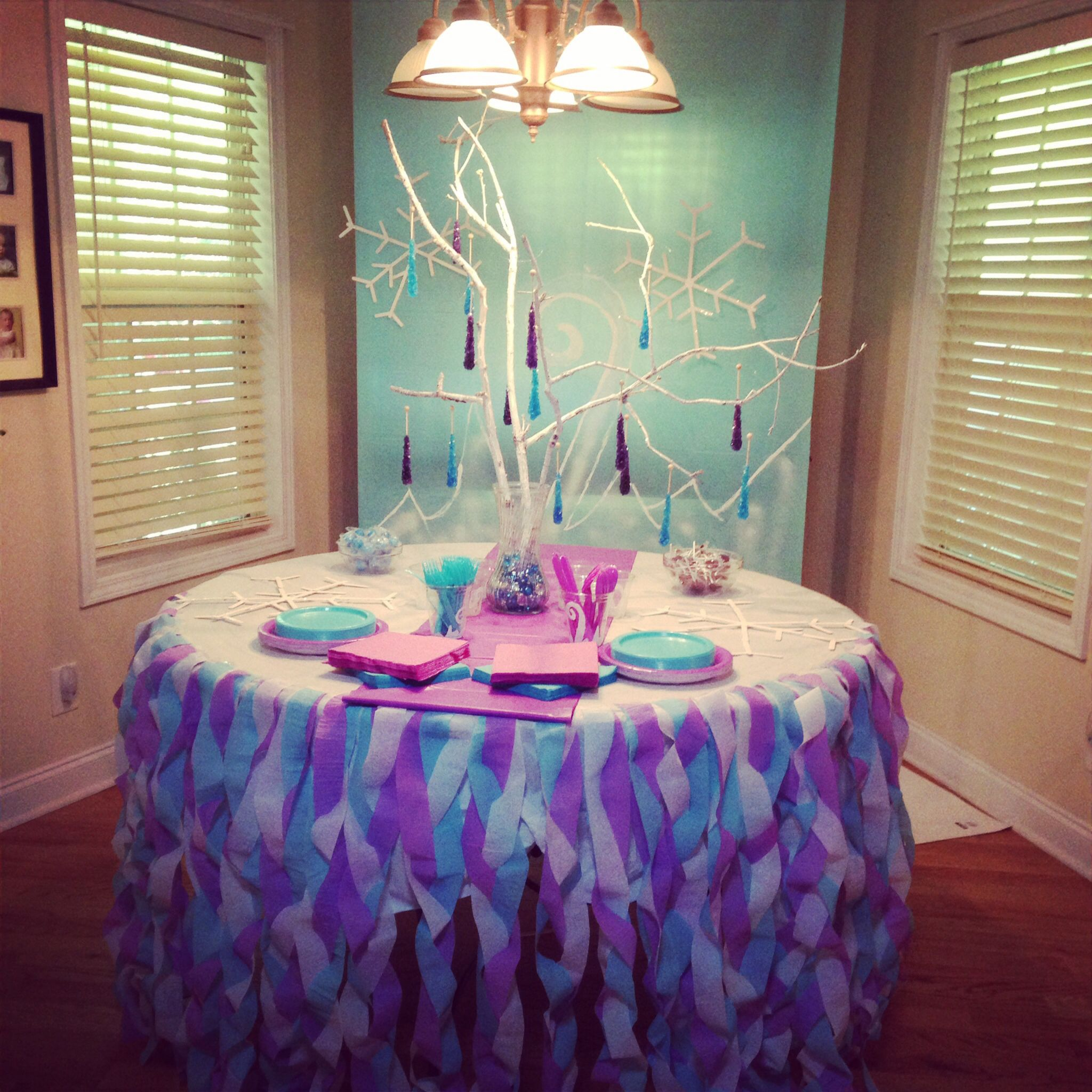 Frozen decorations 7th birthday party ideas pinterest for Decoration ideas 7th birthday party