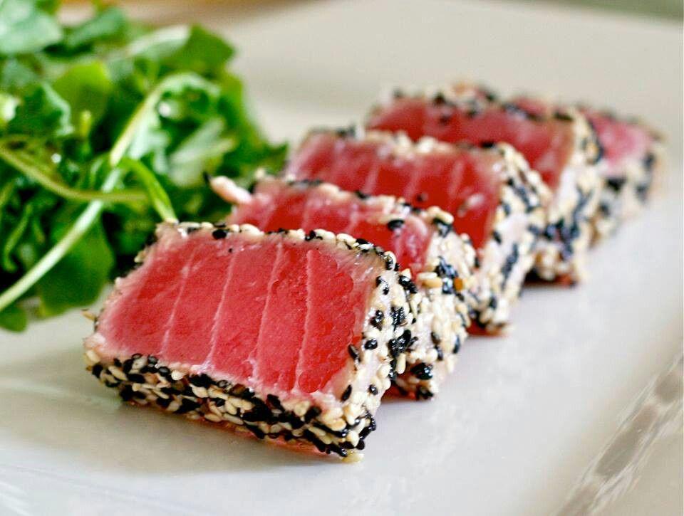 Sesame Crusted Seared Ahi Tuna | Culinary | Pinterest