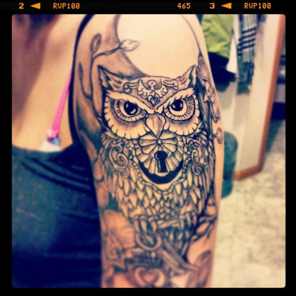 owl half sleeve | tattoo ideas | Pinterest