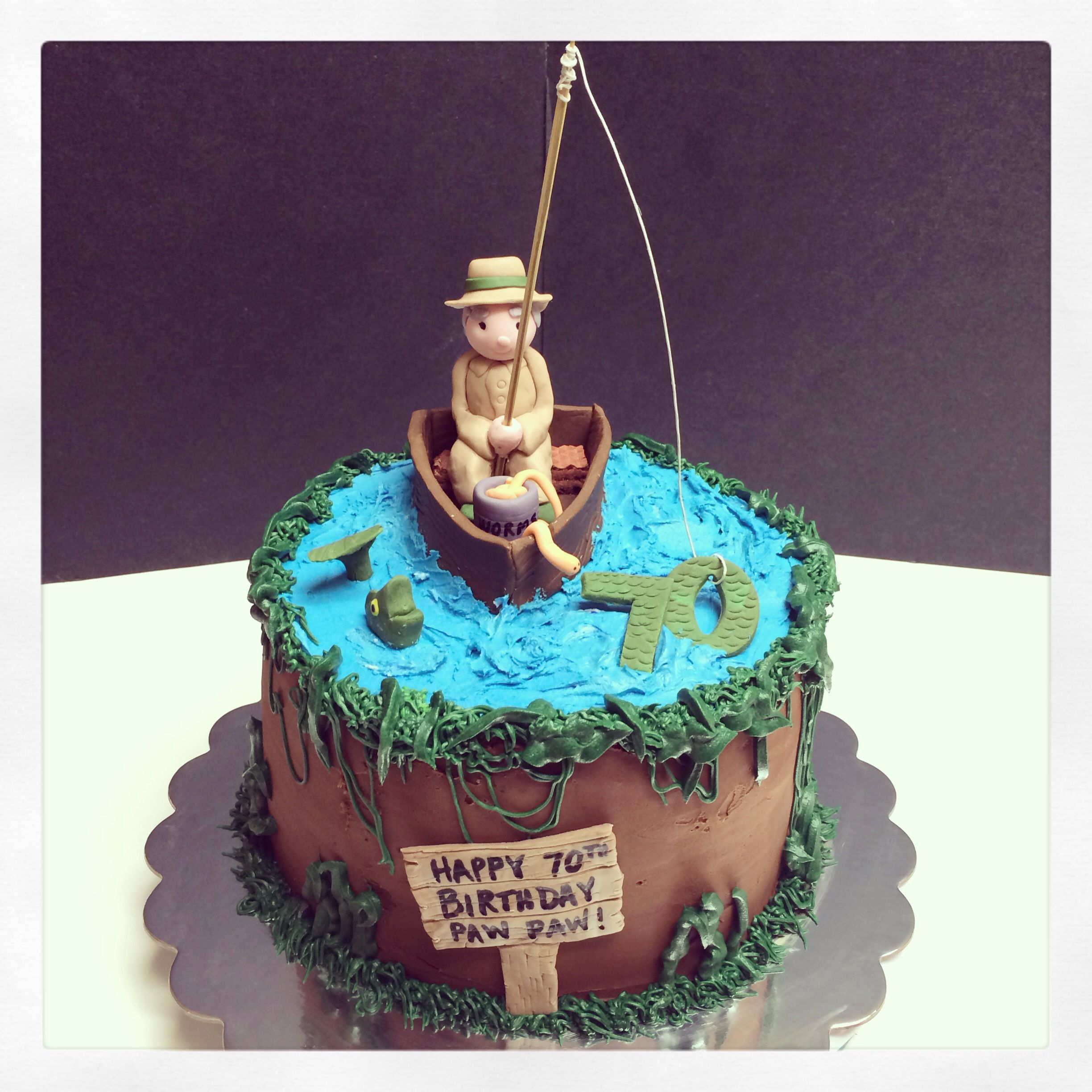 Fishing themed cake my cakes pinterest for Fishing themed cakes