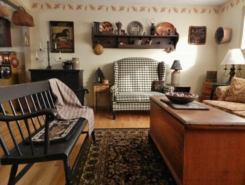Living room primitive decorating ii pinterest for Primitive living room designs